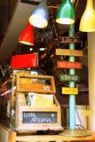 Надпись в кафе Стоковая Фотография