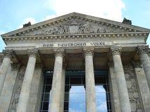 Надпись здания Reichstag Стоковые Изображения RF