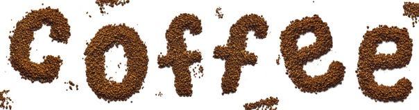 Надпись кофе Стоковые Изображения RF