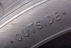 Надпись на конце-вверх колеса стоковое изображение