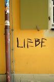 Немецкая надпись на стенах Стоковые Фотографии RF
