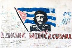 Надпись на стенах Че Гевара Стоковые Фото