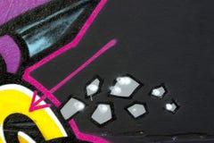 надпись на стенах детали Стоковое Фото