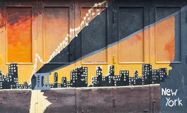 Надпись на стенах New York стоковое изображение