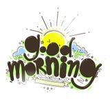 Надпись доброго утра Стоковые Фото