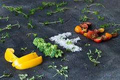 Надпись свежих овощей Стоковое фото RF