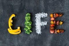 Надпись свежих овощей Стоковые Изображения