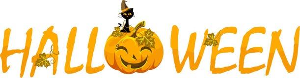 Надпись хеллоуина вектора на белой предпосылке Стоковое Изображение RF