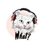 Надпись чернил кота бесплатная иллюстрация