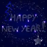 Надпись льда счастливое Новый Год бесплатная иллюстрация