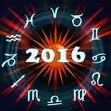 Надпись 2016 Стоковые Изображения