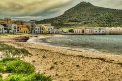 На пляже Прая в Favignana, Сицилия стоковое фото rf