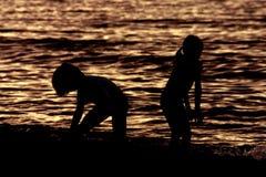 На пляже Стоковое Фото