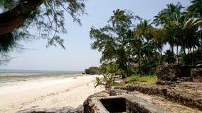 на пляже Mtwapa Кении Стоковое Фото