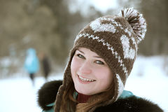 На прогулке зимы Стоковые Фотографии RF