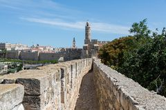 На прогулке Ramparts в Иерусалиме стоковые фотографии rf