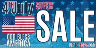 На продажах рекламы печати в день независимости Америки иллюстрация вектора