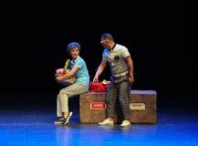На простые люди тетушки- квадратного танца скачки бдительн-эскиза большой этап Стоковая Фотография