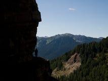 На пути горного склона стоковые фотографии rf