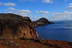 На пути к Ponta de São Lourenço Стоковое фото RF