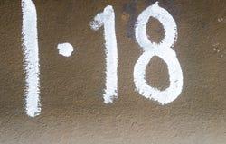 18 на плите metall Стоковые Изображения