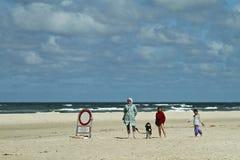 На пляже в Дании Стоковые Фотографии RF