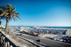 На пляже Санта-Моника, Лос-Анджелес стоковое изображение