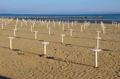 На пляже Grado, Италия, Европа Стоковое Изображение