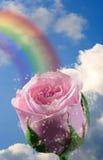 над радугой Стоковое Изображение RF