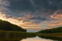 На реке Стоковая Фотография
