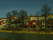 На реке Стоковое Изображение