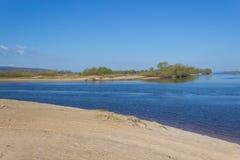 На речном береге Стоковая Фотография RF