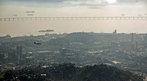 Над Рио-де-Жанейро Стоковое Изображение RF