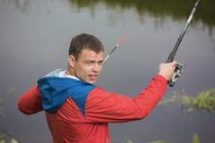 На рыбной ловле Стоковое фото RF