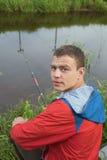 На рыбной ловле Стоковые Изображения