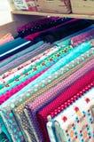 На рынке ткани Стоковое Фото