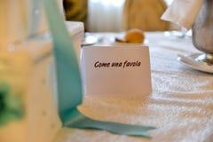 На свадебном банкете Стоковая Фотография RF