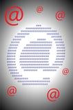 На символах знака Стоковое Фото