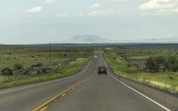 На сиротливом шоссе в Техасе Стоковые Фото