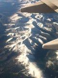 Над скалистыми горами Стоковое Изображение