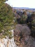 Над смотреть поймы от скалы Стоковое Фото