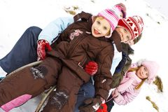 На снежке Стоковое фото RF