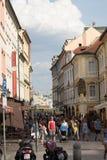 На старых улицах Праги стоковое фото