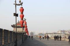 На стене Xian, Китай Стоковые Фото