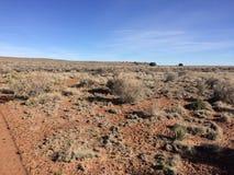 На следе в пустыне стоковые изображения rf