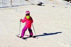 На следе катания на лыжах стоковые фотографии rf