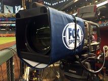 На телекамере поля на бейсбольном матче Стоковое Изображение