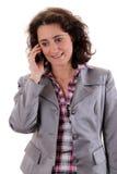 На телефоне стоковые изображения rf