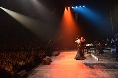 Над 10 тысячами люди присутствуют на концерте дня рождения года Виктора Drobysh пятидесятом в центре Barclay Стоковые Изображения RF