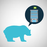 Надувательство медведя финансов здания банка Стоковое Изображение RF